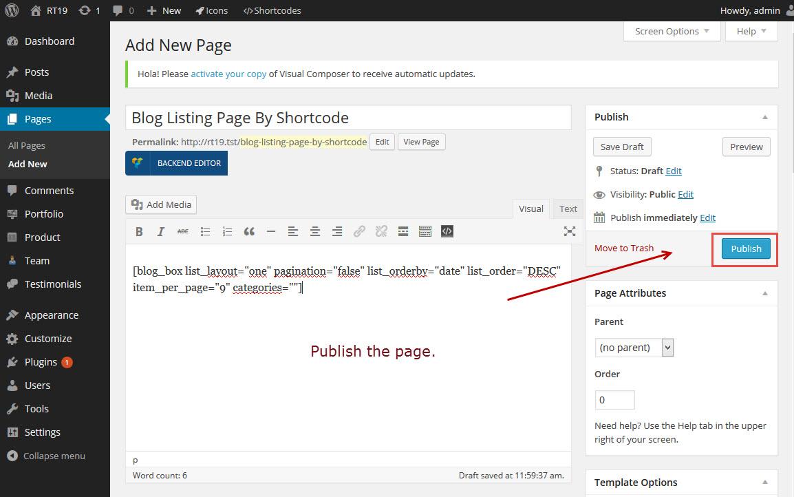 publish-blog-shortcode-page