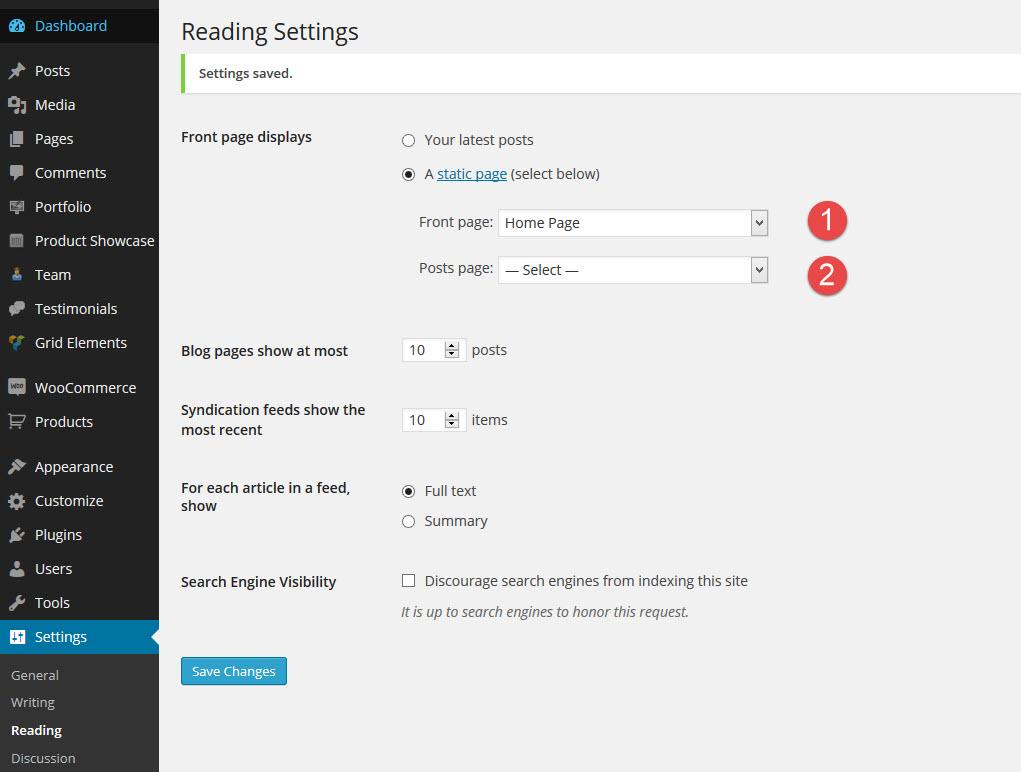 wordpress-reading-settings