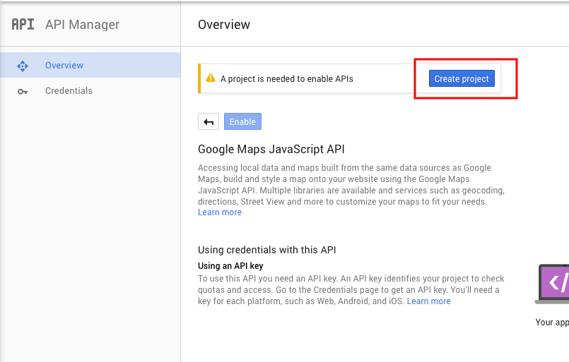 How to generate a Google API KEY – RT-Theme Documents