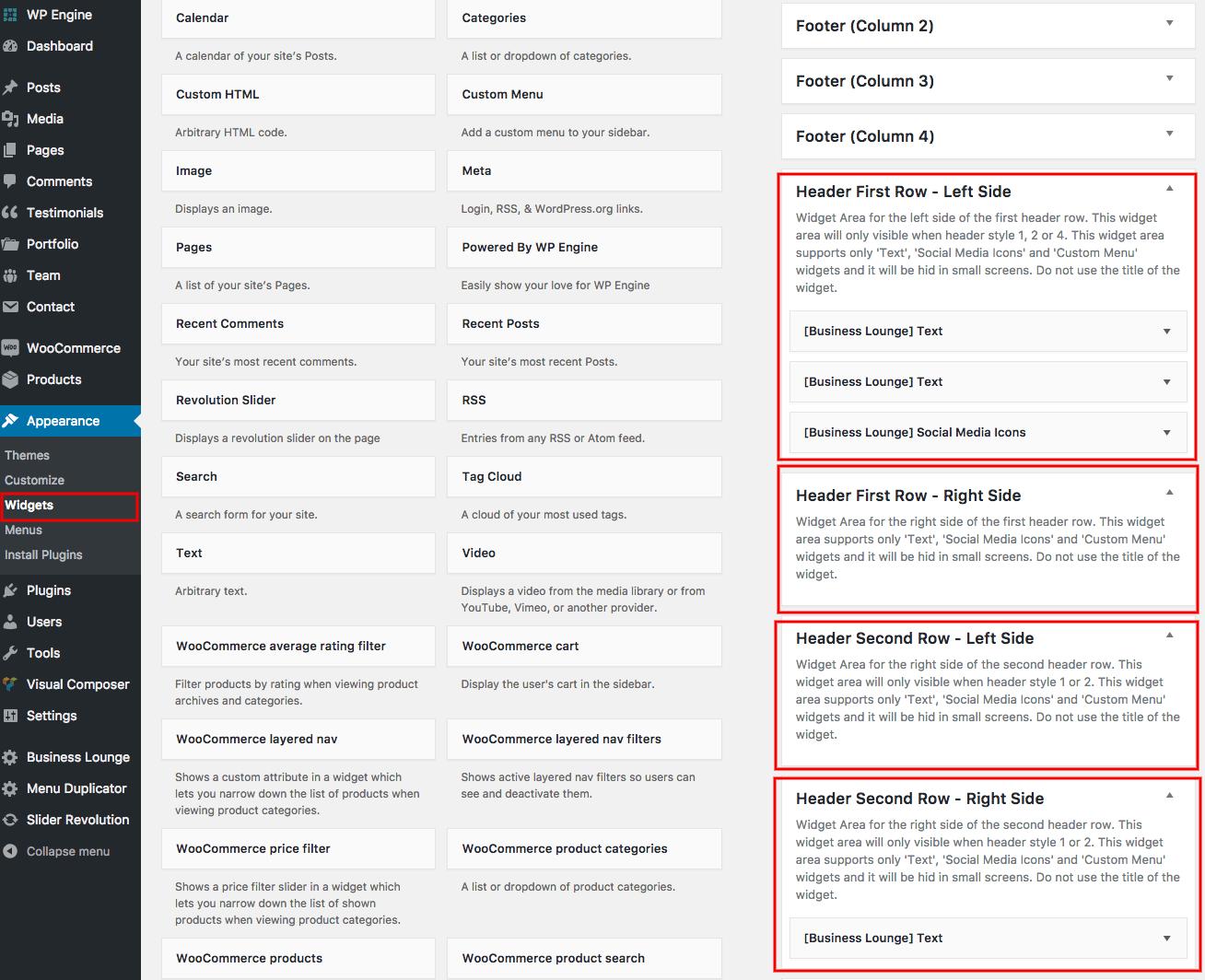 Header Widgets – RT-Theme Documents